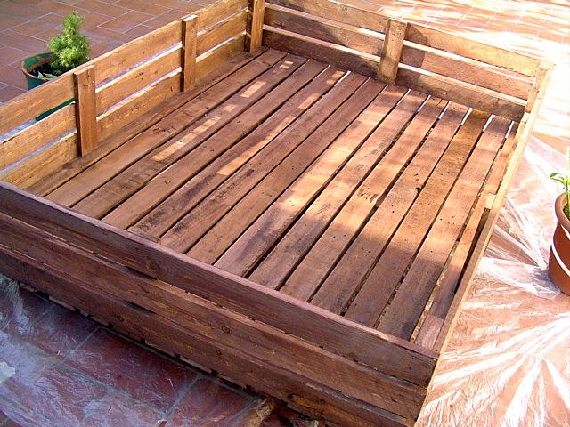 Caj n grande jardinera que he hecho de madera fotos - Estructuras con palets ...