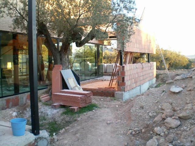 Dise o de jard n en campo de olivos - Diseno de jardines para casas de campo ...