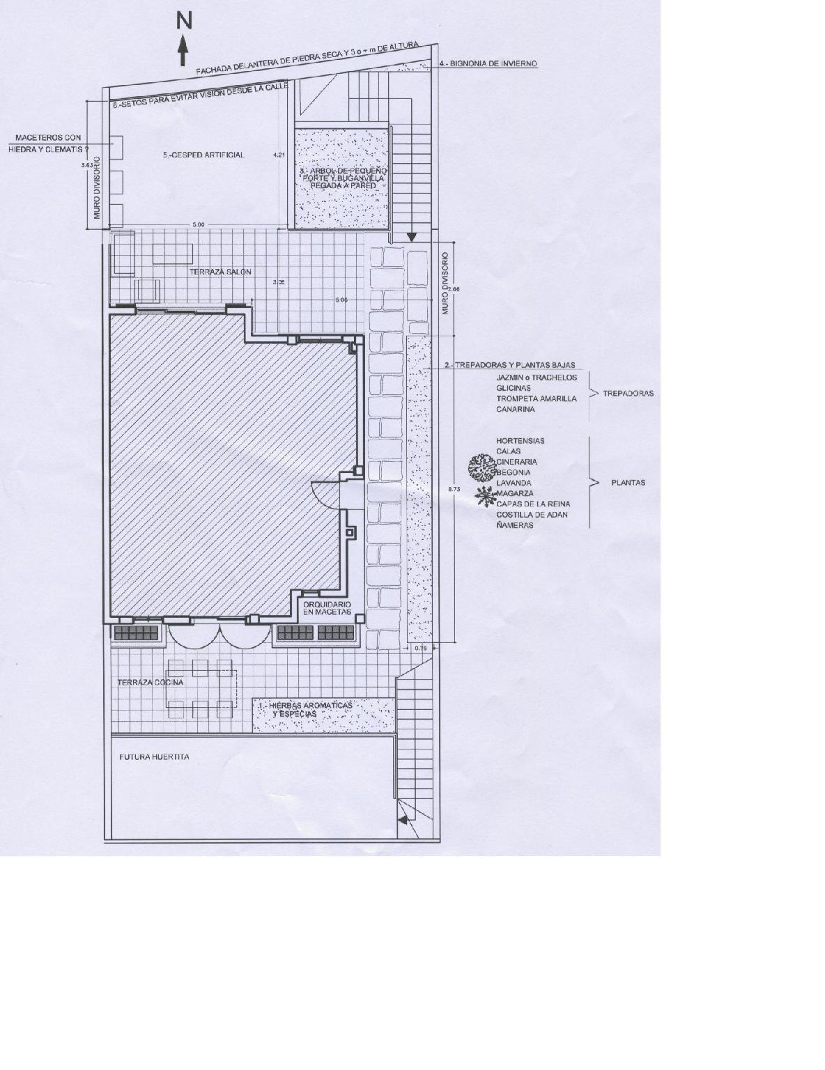 Ayuda para dise ar patio de la casa pongo plano - Disenar planos de casas ...